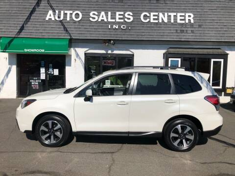 2018 Subaru Forester for sale at Auto Sales Center Inc in Holyoke MA
