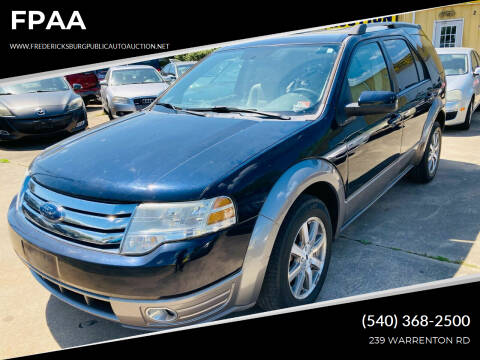 2008 Ford Taurus X for sale at FPAA in Fredericksburg VA