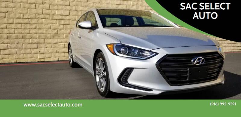 2017 Hyundai Elantra for sale at SAC SELECT AUTO in Sacramento CA