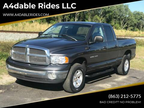 2002 Dodge Ram Pickup 1500 for sale at A4dable Rides LLC in Haines City FL