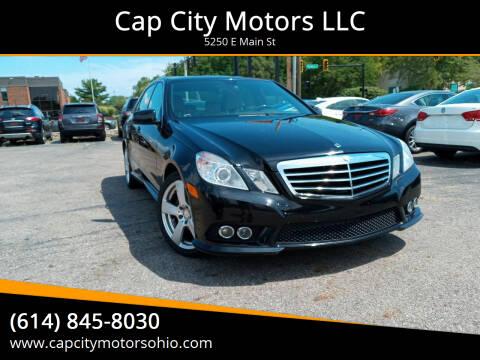 2010 Mercedes-Benz E-Class for sale at Cap City Motors LLC in Columbus OH