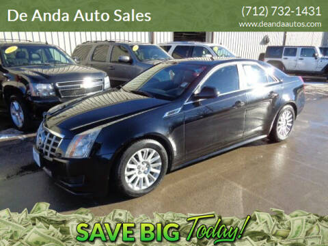 2012 Cadillac CTS for sale at De Anda Auto Sales in Storm Lake IA