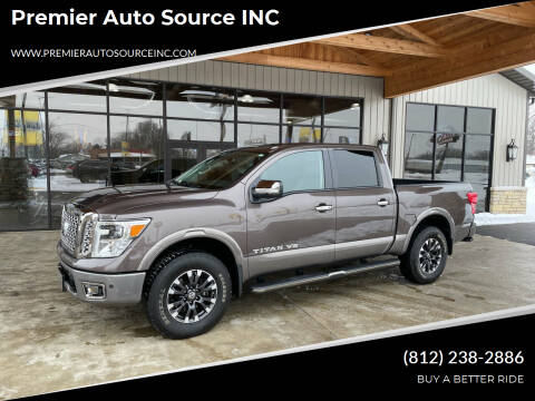 2018 Nissan Titan for sale at Premier Auto Source INC in Terre Haute IN