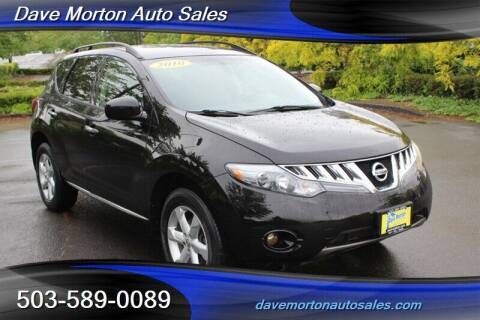 2010 Nissan Murano for sale at Dave Morton Auto Sales in Salem OR