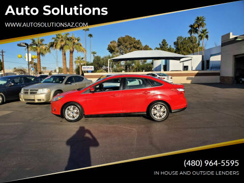 2012 Ford Focus for sale at Auto Solutions in Mesa AZ