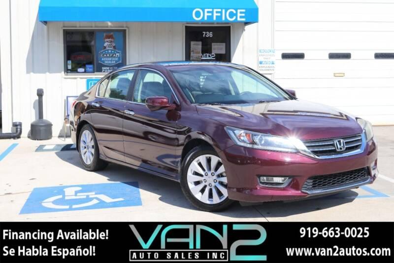 2013 Honda Accord for sale at Van 2 Auto Sales Inc in Siler City NC