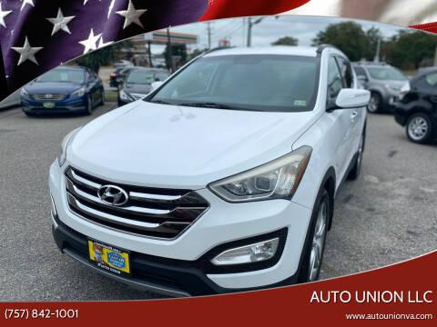 2013 Hyundai Santa Fe Sport for sale at Auto Union LLC in Virginia Beach VA