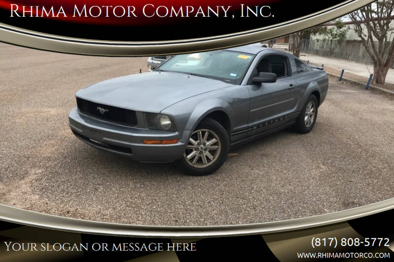 2007 Ford Mustang for sale at Rhima Motor Company, Inc. in Haltom City TX