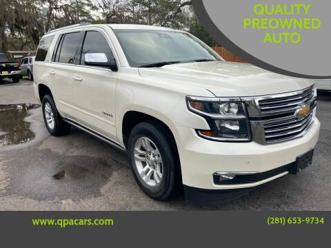 2015 Chevrolet Tahoe for sale at QUALITY PREOWNED AUTO in Houston TX