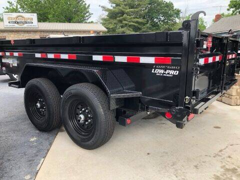 2021 Pj  12' Low Pro Dump Trailer for sale at CRUMP'S AUTO & TRAILER SALES in Crystal City MO