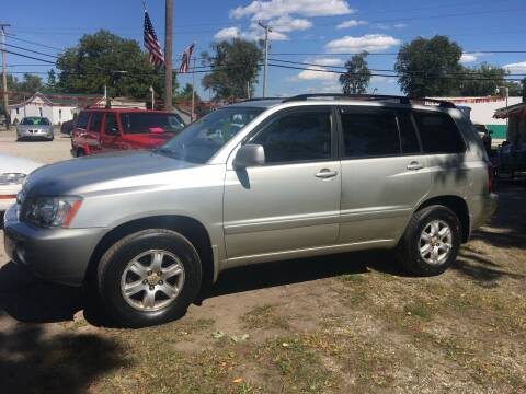 2003 Toyota Highlander for sale at Antique Motors in Plymouth IN