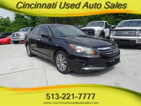 2012 Honda Accord for sale at Cincinnati Used Auto Sales in Cincinnati OH