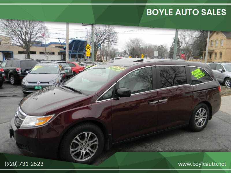 2013 Honda Odyssey for sale at Boyle Auto Sales in Appleton WI