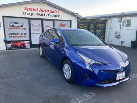 2016 Toyota Prius for sale at Speed Auto Sales in El Cajon CA