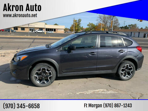 2015 Subaru XV Crosstrek for sale at Akron Auto - Fort Morgan in Fort Morgan CO