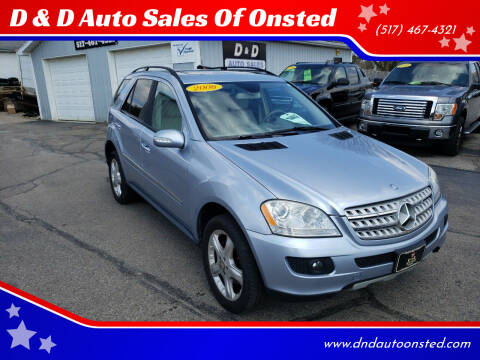 2008 Mercedes-Benz M-Class for sale at D & D Auto Sales Of Onsted in Onsted   Brooklyn MI