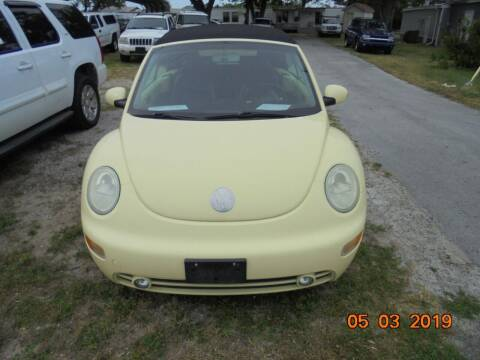 2003 Volkswagen New Beetle for sale at Webb's Automotive Inc 11 in Morehead City NC