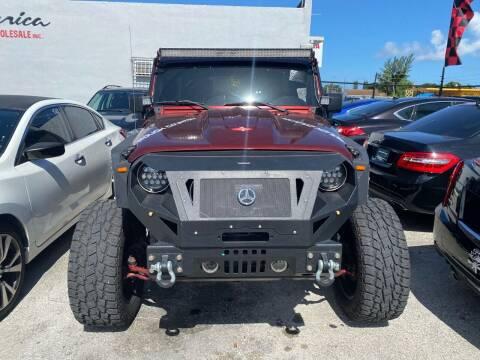 2007 Jeep Wrangler Unlimited for sale at America Auto Wholesale Inc in Miami FL
