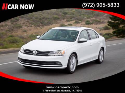 2016 Volkswagen Jetta for sale at Car Now Dallas in Dallas TX