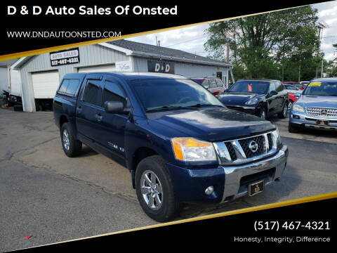 2010 Nissan Titan for sale at D & D Auto Sales Of Onsted in Onsted MI