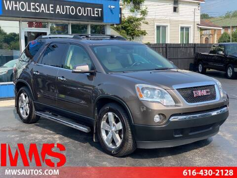 2011 GMC Acadia for sale at MWS Wholesale  Auto Outlet in Grand Rapids MI