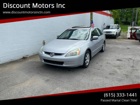 2005 Honda Accord for sale at Discount Motors Inc in Nashville TN