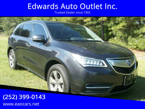 2015 Acura MDX for sale at Edwards Auto Outlet Inc. in Wilson NC