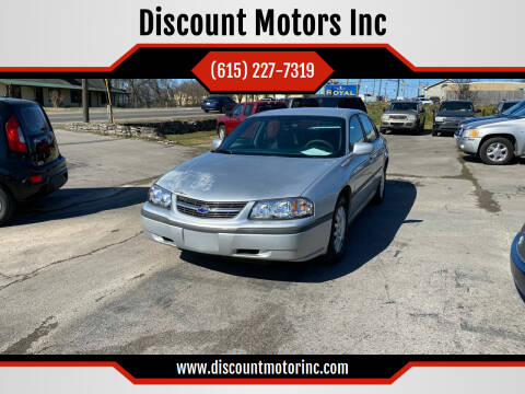 2004 Chevrolet Impala for sale at Discount Motors Inc in Nashville TN