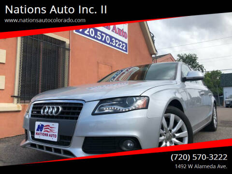 2009 Audi A4 for sale at Nations Auto Inc. II in Denver CO