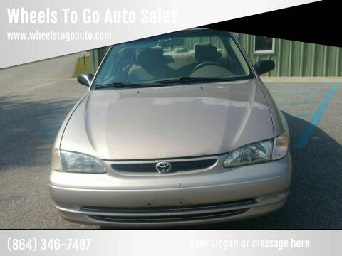 1999 Toyota Corolla for sale at Wheels To Go Auto Sales in Greenville SC