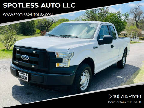 2015 Ford F-150 for sale at SPOTLESS AUTO LLC in San Antonio TX