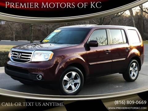 2013 Honda Pilot for sale at Premier Motors of KC in Kansas City MO