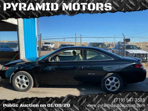 2001 Toyota Camry Solara for sale at PYRAMID MOTORS - Pueblo Lot in Pueblo CO