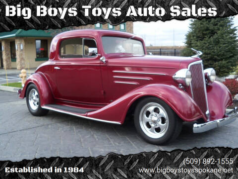 1934 Chevrolet Master Deluxe for sale at Big Boys Toys Auto Sales in Spokane Valley WA