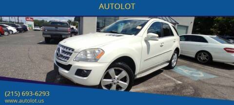 2011 Mercedes-Benz M-Class for sale at AUTOLOT in Bristol PA