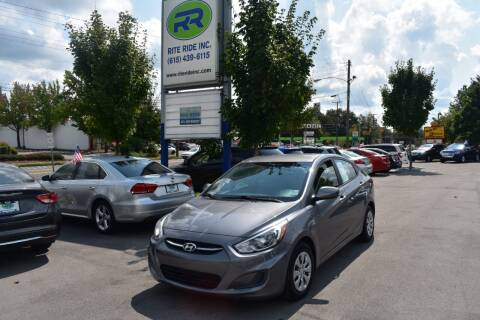 2016 Hyundai Accent for sale at Rite Ride Inc 2 in Shelbyville TN