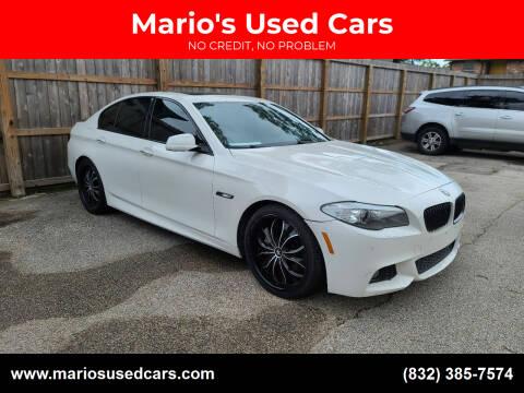 2013 BMW 5 Series for sale at Mario's Used Cars - Pasadena Location in Pasadena TX
