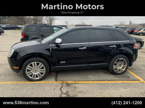 2008 Lincoln MKX for sale at Martino Motors in Pittsburgh PA