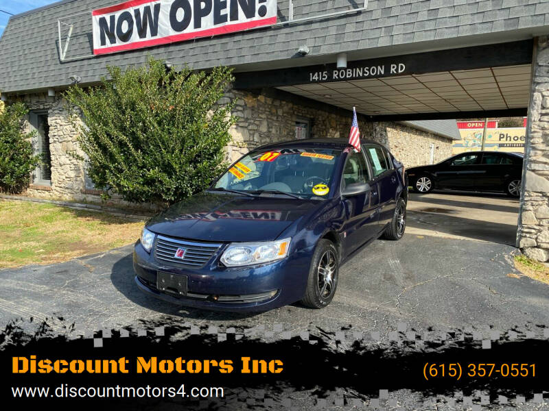 2007 Saturn Ion for sale at Discount Motors Inc in Old Hickory TN