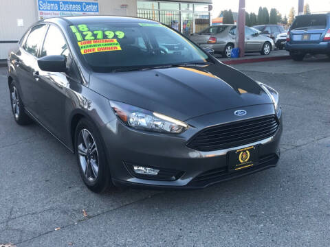 2018 Ford Focus for sale at Bayview Motor Club, LLC in Seatac WA