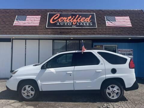2002 Pontiac Aztek for sale at Certified Auto Sales, Inc in Lorain OH