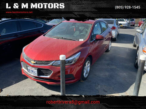2018 Chevrolet Cruze for sale at L & M MOTORS in Santa Maria CA