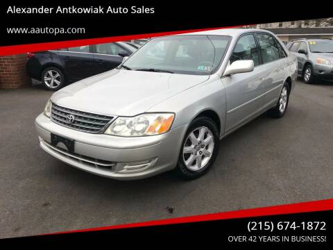 2003 Toyota Avalon for sale at Alexander Antkowiak Auto Sales in Hatboro PA