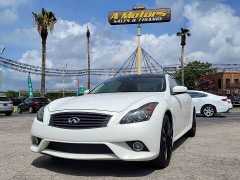 2013 Infiniti G37 Coupe for sale at A MOTORS SALES AND FINANCE - 6226 San Pedro Lot in San Antonio TX