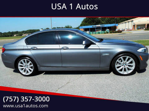2011 BMW 5 Series for sale at USA 1 Autos in Smithfield VA