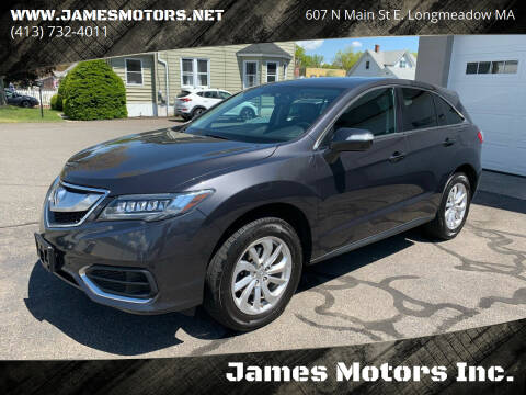 2016 Acura RDX for sale at James Motors Inc. in East Longmeadow MA