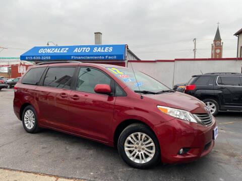 2012 Toyota Sienna for sale at Gonzalez Auto Sales in Joliet IL