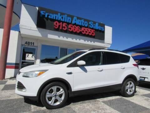 2013 Ford Escape for sale at Franklin Auto Sales in El Paso TX
