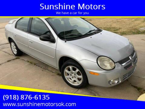 2005 Dodge Neon for sale at Sunshine Motors in Bartlesville OK