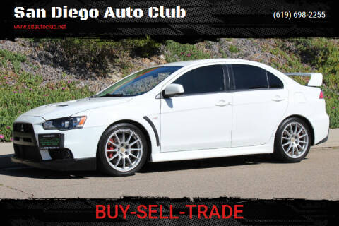 2011 Mitsubishi Lancer Evolution for sale at San Diego Auto Club in Spring Valley CA